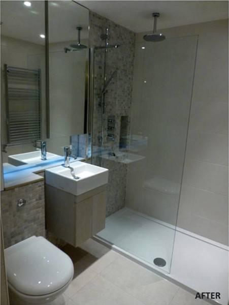 Foto inspirasi ide desain kamar mandi kontemporer Bathroom oleh TMS Creative di Arsitag