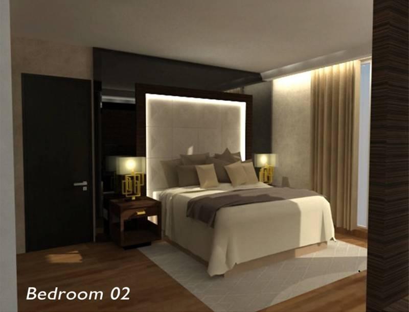 Foto inspirasi ide desain apartemen modern Bedroom oleh TMS Creative di Arsitag
