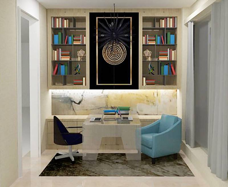 Foto inspirasi ide desain ruang kerja kontemporer Work room oleh TMS Creative di Arsitag