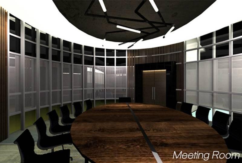 Foto inspirasi ide desain ruang meeting minimalis Meeting room oleh TMS Creative di Arsitag