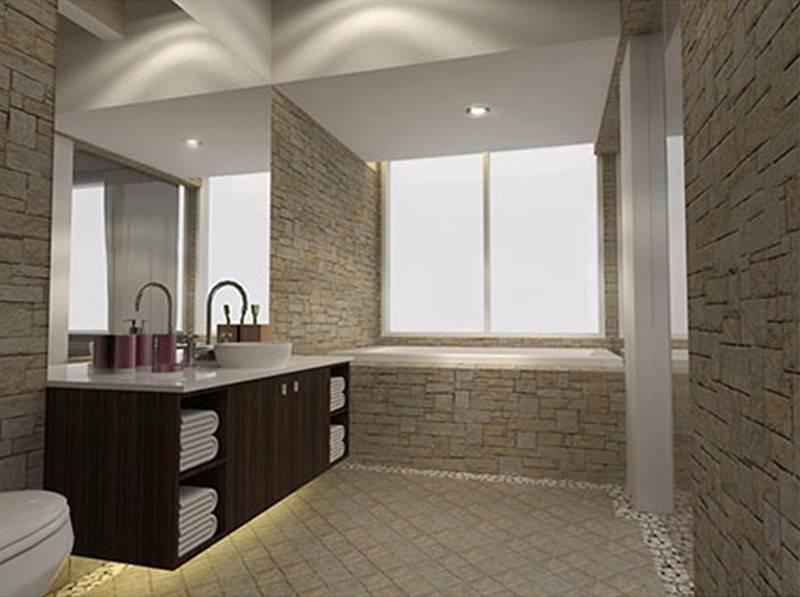 Foto inspirasi ide desain kamar mandi minimalis Bathroom oleh TMS Creative di Arsitag