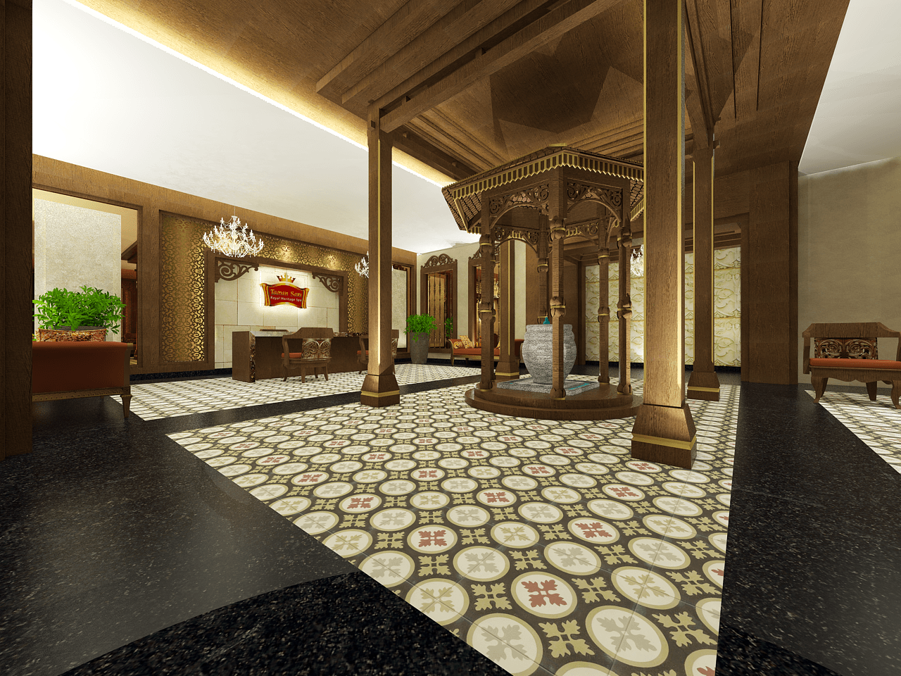 Tms Creative Taman Sari Royal Heritage Spa In Prague, Czech Republic Prague 1, Ceko Jakarta Lobby-2 Tradisional 12403