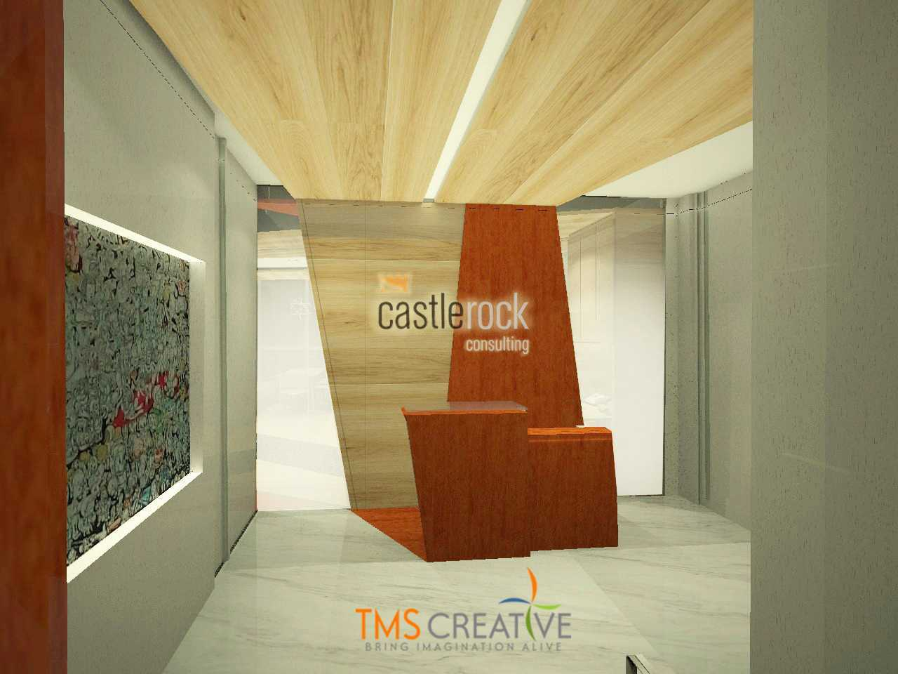 Tms Creative Pt Castlerock Consulting Office  Kebayoran Baru Jakarta Kebayoran Baru Jakarta Tmscastlerock-01Lobby-Rec-Wlogo Modern 39491