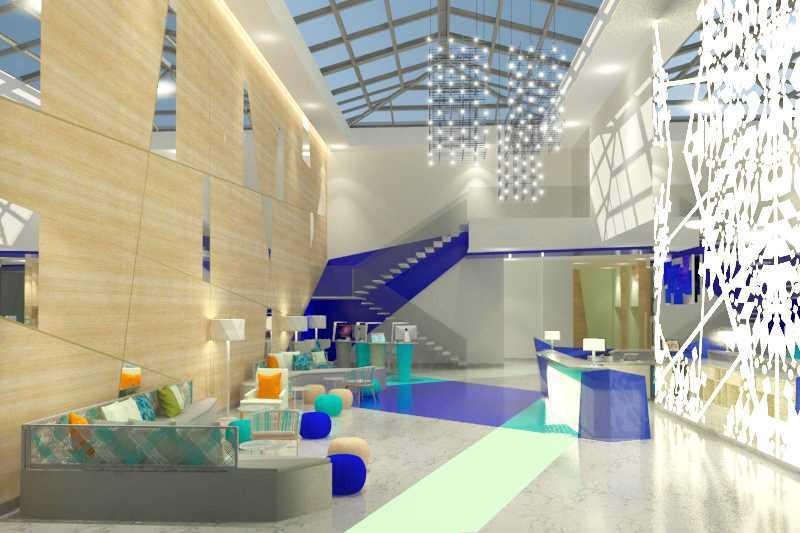 Foto inspirasi ide desain lobby kontemporer Lobby hotel oleh TMS Creative di Arsitag