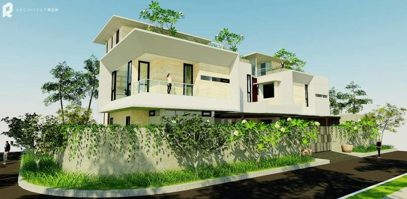 Architectron Mayang Permai House At Pik North Jakarta North Jakarta Side View Tropis 2041