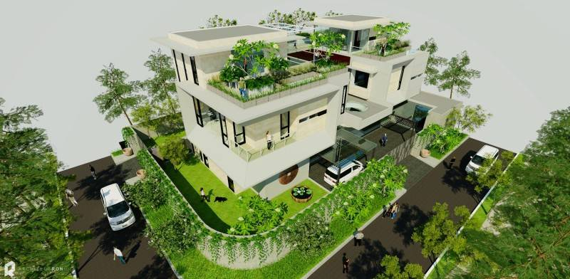 Architectron Mayang Permai House At Pik North Jakarta North Jakarta Bird Eye View Tropis 2042