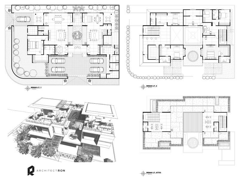 Architectron Mayang Permai House At Pik North Jakarta North Jakarta Site Plan Tropis 2043