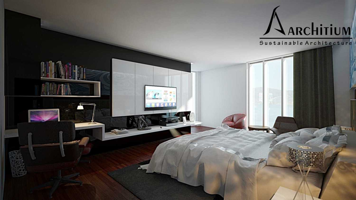 Architium Design Penthouse At Regatta Apartment Regatta Apartment, Jakarta Regatta Apartment, Jakarta Master-Bed-1 Minimalis 27423