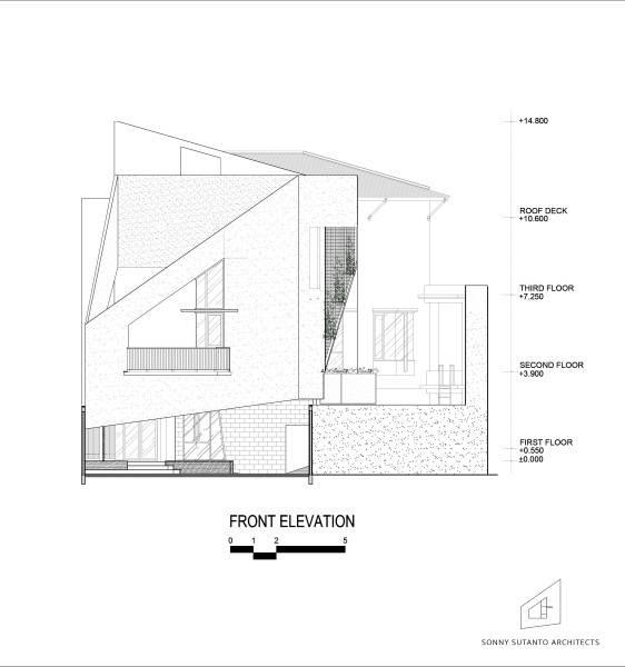Sonny Sutanto Architects Sonny Sutanto Architects New Office Sunter, North Jakarta, Indonesia Sunter, North Jakarta, Indonesia Elevation  2090