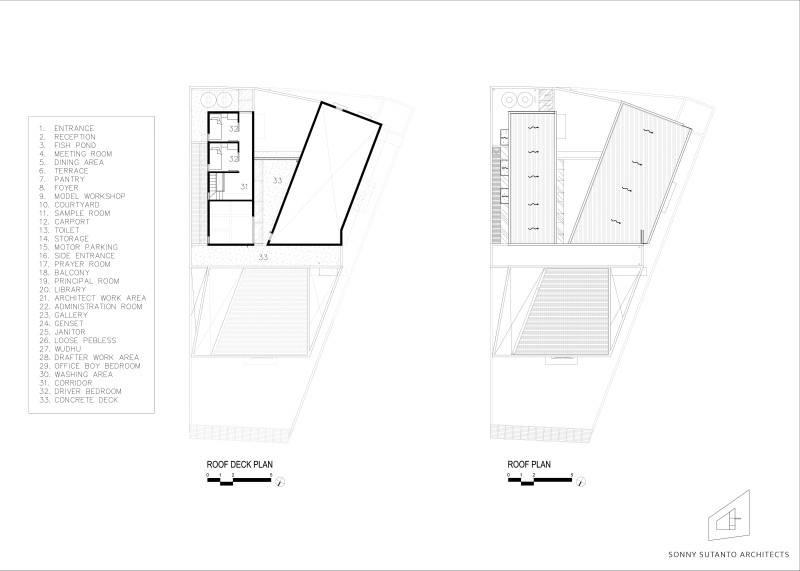 Sonny Sutanto Architects Sonny Sutanto Architects New Office Sunter, North Jakarta, Indonesia Sunter, North Jakarta, Indonesia Floorplan  2091