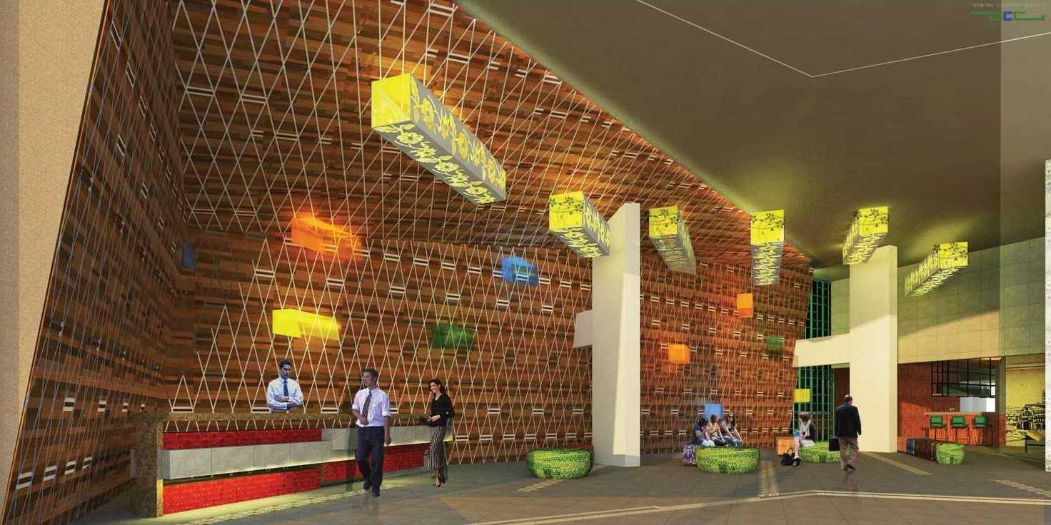 Foto inspirasi ide desain lobby minimalis 4 oleh Atelier Cosmas Gozali di Arsitag