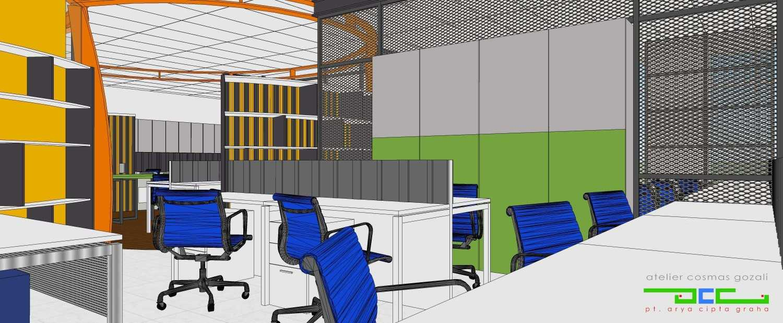 office interior. Atelier Cosmas Gozali Office Interior Kelapa Gading, North Jakarta Ruang