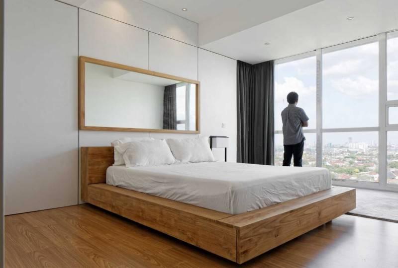 Foto inspirasi ide desain kamar tidur minimalis Bedroom oleh Atelier Prapanca di Arsitag