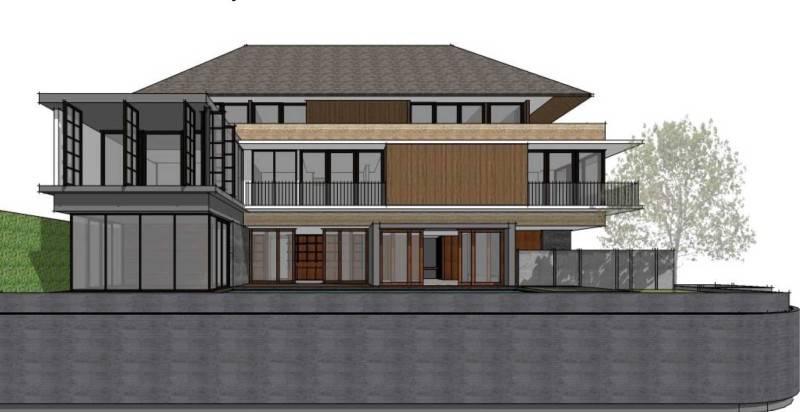 Foto inspirasi ide desain rumah modern Front-view oleh Atelier Prapanca di Arsitag