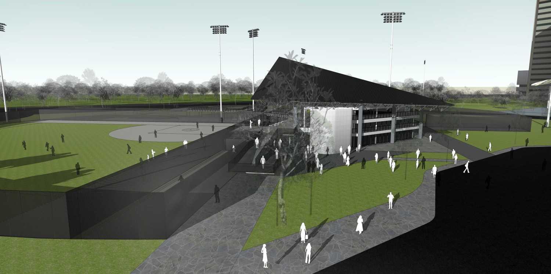 Atelier Prapanca Softball Stadium, Senayan Senayan, Jakarta Senayan, Jakarta Bird-Eye-View-Entrance Modern 24393