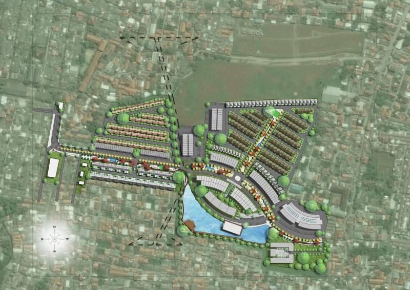 Alien Design Consultant Seroja Residential Development Bekasi Bekasi Map Site Plan Modern 7070
