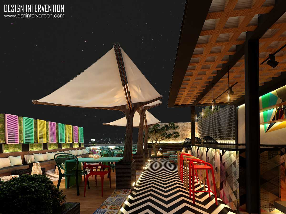 Design Intervention B Hostel Bali Bali Rooftop-Resto-View  14026