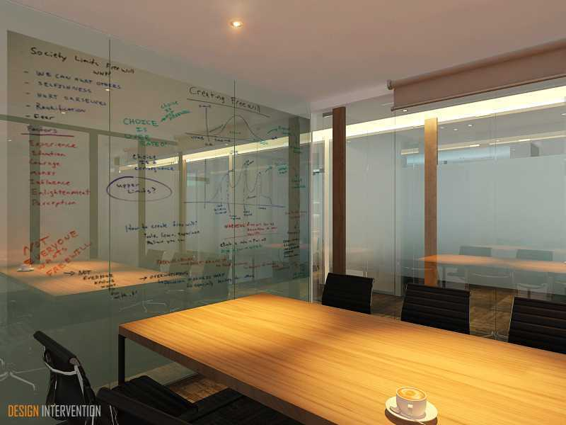 Foto inspirasi ide desain ruang meeting Meeting room oleh DESIGN INTERVENTION di Arsitag