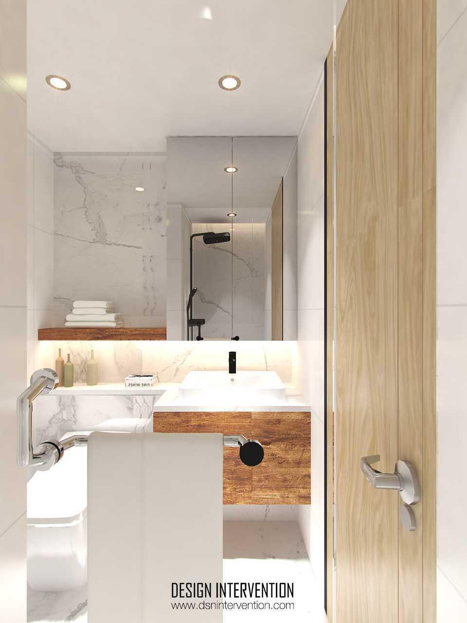 Foto inspirasi ide desain kamar mandi minimalis Bathroom-view oleh DESIGN INTERVENTION di Arsitag