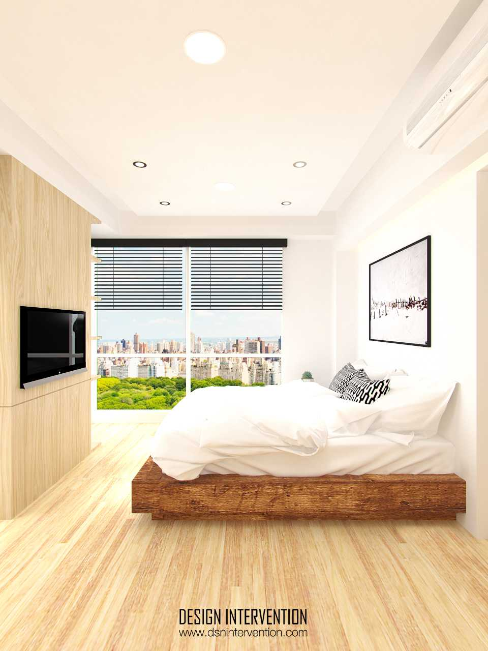Foto inspirasi ide desain apartemen industrial Bedroom view oleh DESIGN INTERVENTION di Arsitag