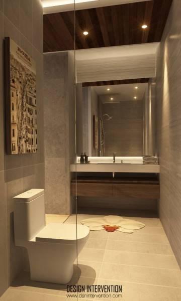 Design Intervention J House At Gading Serpong Tangerang, Banten, Indonesia Tangerang, Banten, Indonesia Bathroom Minimalis,modern,glass 2539