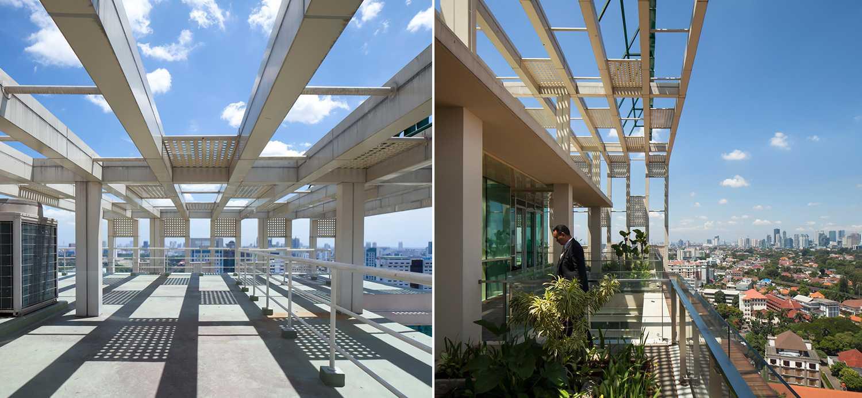 Foto inspirasi ide desain atap minimalis Rooftop area oleh Enviro Tec di Arsitag
