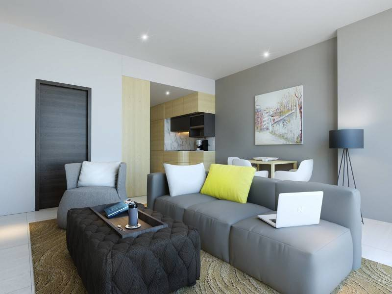 Small Space Interior Clove Garden Apartment Bandung, Indonesia Bandung, Indonesia Livingroom  6438