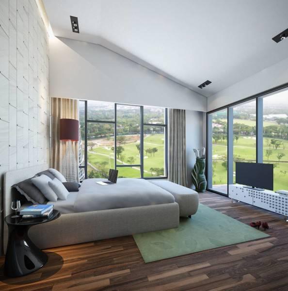 Small Space Interior Terra Golf Residence At Pondok Indah Jakarta, Indonesia Jakarta, Indonesia Master-Bedroom2 Kontemporer 6497