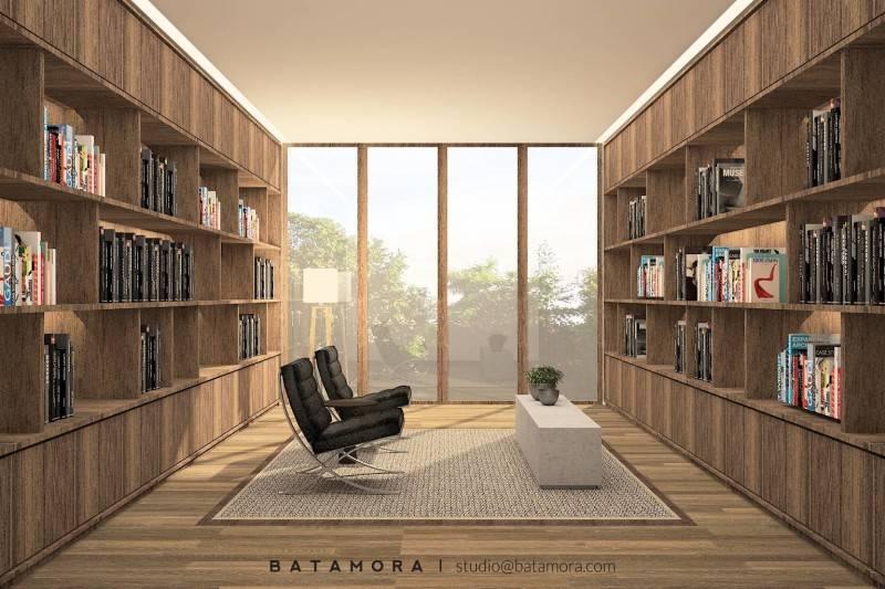 Foto inspirasi ide desain perpustakaan modern Library - study room oleh BATAMORA di Arsitag