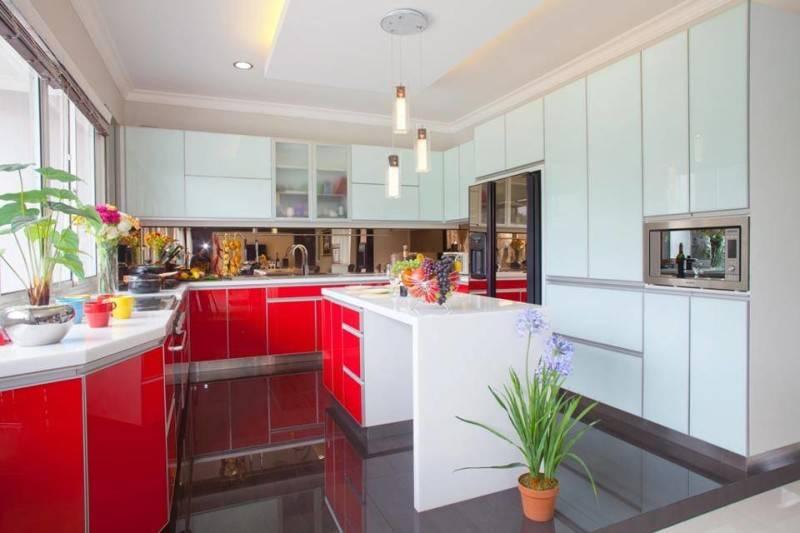 Zeno Living Modern Minimalist Kitchen-Red And White Jakarta  Jakarta  Modern-Minimalist-Kitchen-Red-And-White  2754
