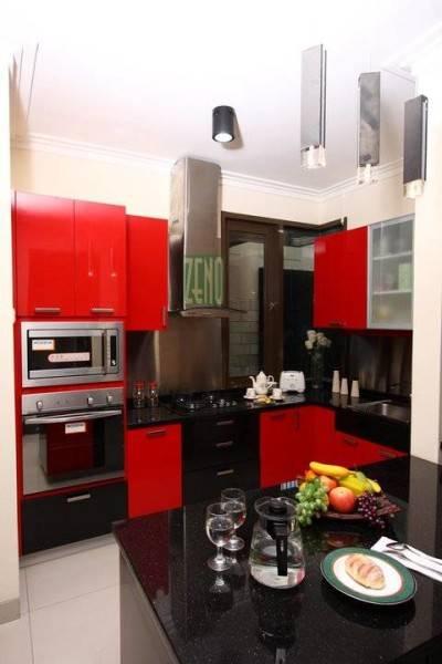 Zeno Living Modern Minimalist Kitchen-Red And White Jakarta  Jakarta  Edw-Kitchen  2756