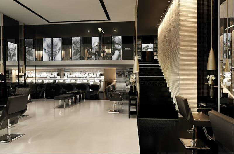 Foto inspirasi ide desain tangga minimalis Styling area with stair view oleh Tito Lukito di Arsitag