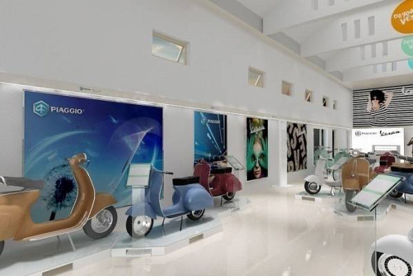 Tito Lukito Piaggio Vespa New Showroom At Malang East Java East Java Showroom-Area2  2865