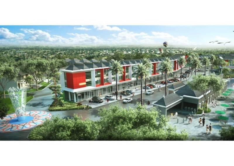 Vinda Nurfitri Waterpark Square Shop House At Denpasar Bali, Indonesia Bali, Indonesia Aerial-View  2899