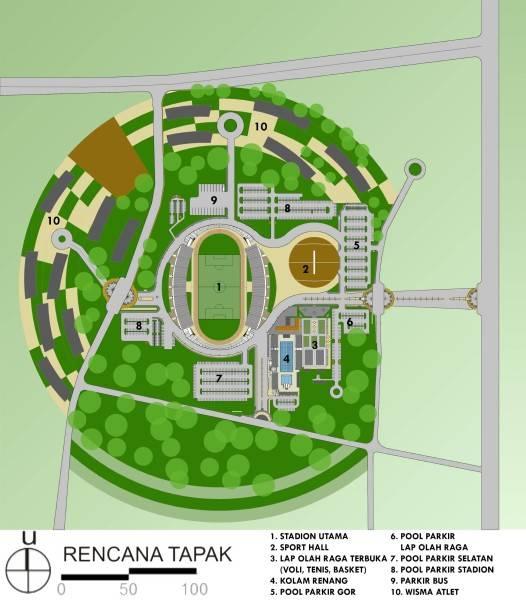Aristokrasi Prima Rivan Consultan Sentani Sport Hall Papua, Indonesia Papua, Indonesia Siteplan-Edited  3134