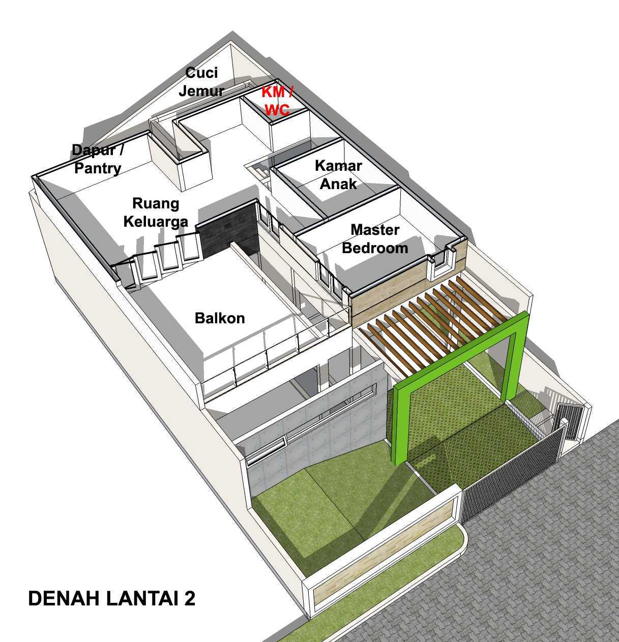 Arsita Studio Architecture Rumah Atap Curam Gresik, Jawa Timur Gresik, Jawa Timur Denah-Lantai-2  20115