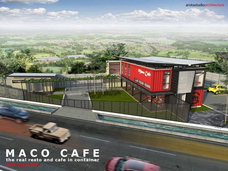Arsita Studio Architecture Maco Cafe Gresik, Jawa Timur Gresik, Jawa Timur Maco-Cafe-Bird-Eye-View- Industrial 3281
