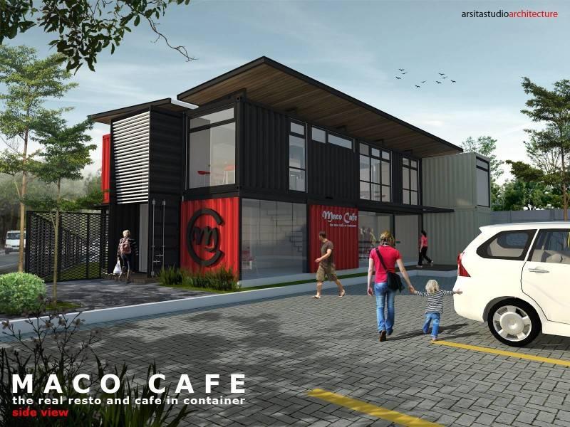Arsita Studio Architecture Maco Cafe Gresik, Jawa Timur Gresik, Jawa Timur Maco-Cafe-Side-View Industrial 3284