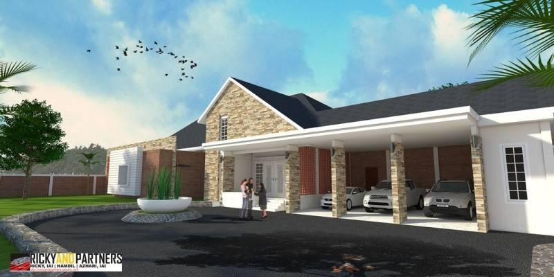 Foto inspirasi ide desain garasi kontemporer Facade oleh RICKYANDPARTNERS Architect Studio di Arsitag