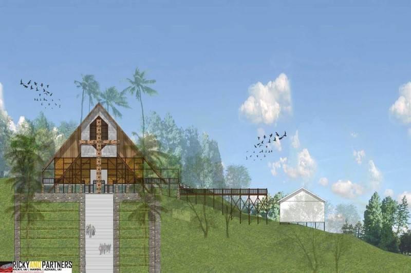 Rickyandpartners Architect Studio Ambalau Church At Sintang West Kalimantan, Indonesia West Kalimantan, Indonesia Front-View Tropis 3338