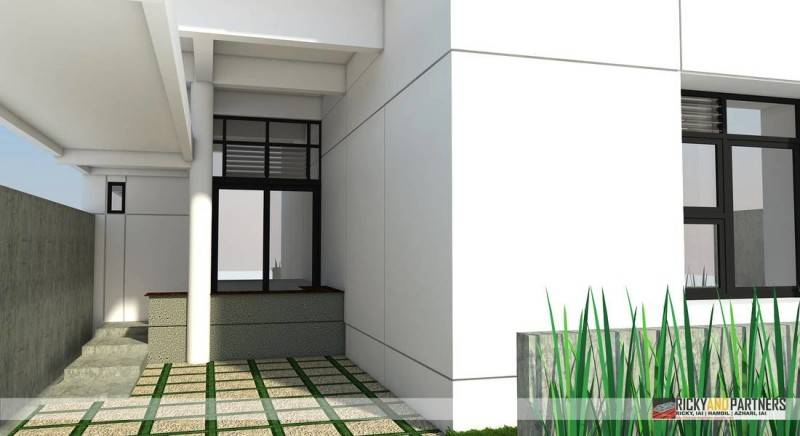 Rickyandpartners Architect Studio R House At Acisa Asri Pontianak, West Kalimantan, Indonesia Pontianak, West Kalimantan, Indonesia Entrance Modern 3342
