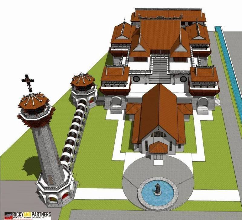Rickyandpartners Architect Studio Stella Maris Church At Pontianak West Kalimantan, Indonesia West Kalimantan, Indonesia Bird-Eye-View-From-Front Tradisional 3395