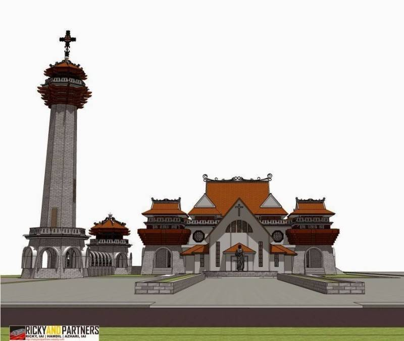 Rickyandpartners Architect Studio Stella Maris Church At Pontianak West Kalimantan, Indonesia West Kalimantan, Indonesia Front-View2 Tradisional 3397