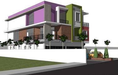 Rickyandpartners Architect Studio Shop House At Parit Tokaya Pontianak, West Kalimantan, Indonesia Pontianak, West Kalimantan, Indonesia Side-View Modern 3400