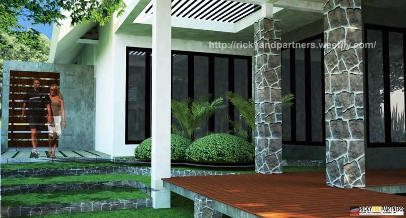 Foto inspirasi ide desain taman skandinavia Corridor-view oleh RICKYANDPARTNERS Architect Studio di Arsitag