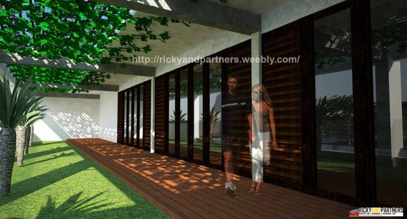 Foto inspirasi ide desain koridor dan lorong skandinavia Open-veranda oleh RICKYANDPARTNERS Architect Studio di Arsitag