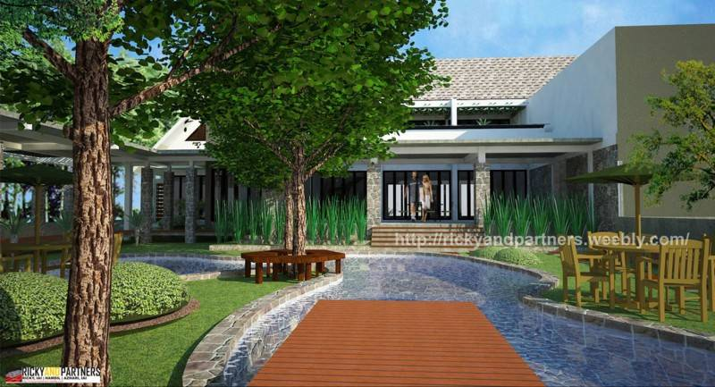 Foto inspirasi ide desain kolam skandinavia Pool-view oleh RICKYANDPARTNERS Architect Studio di Arsitag