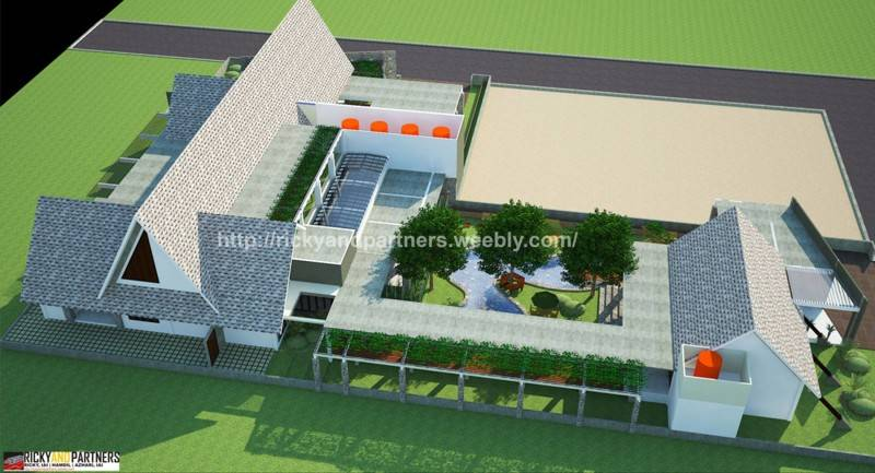 Rickyandpartners Architect Studio Tarmizi's Asylum At Pontianak West Kalimantan, Indonesia West Kalimantan, Indonesia Bird-Eye-View Skandinavia 3438