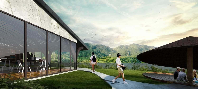 Foto inspirasi ide desain perpustakaan tradisional School-library-saso oleh SASO Architecture Studio di Arsitag
