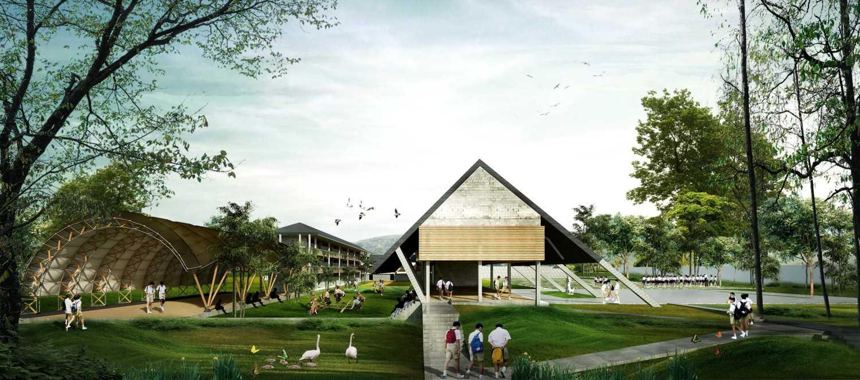 Foto inspirasi ide desain lobby tropis School-lobby-and-hall-saso oleh SASO Architecture Studio di Arsitag